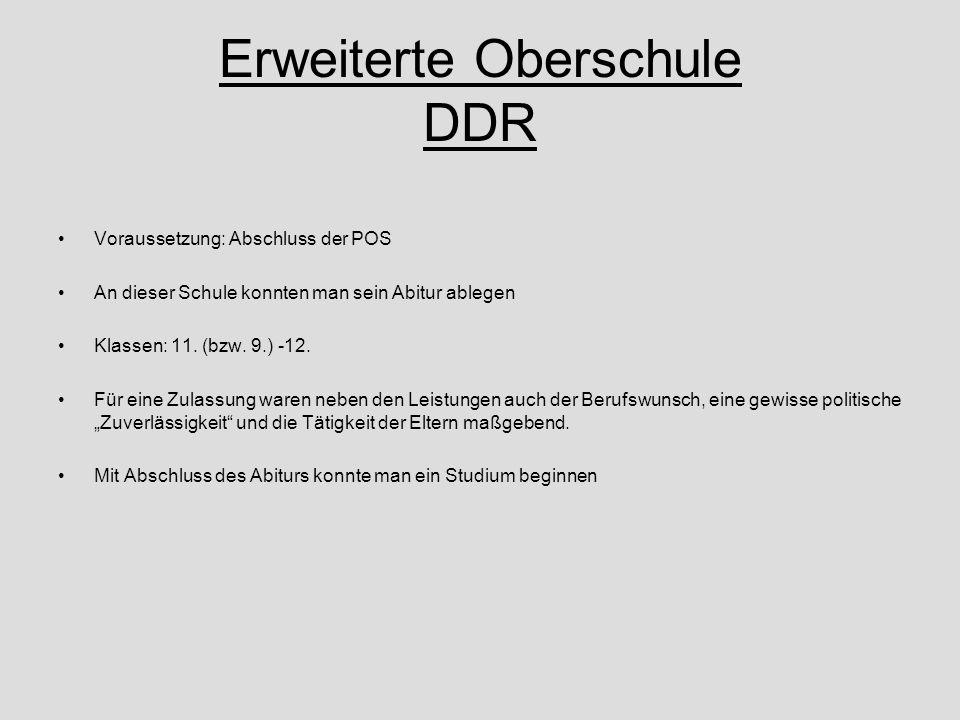 Erweiterte Oberschule DDR