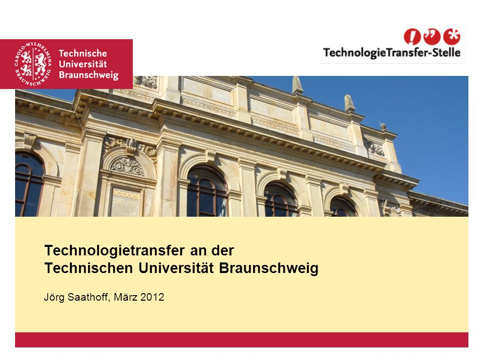 Technologietransfer an der Technischen Universität Braunschweig