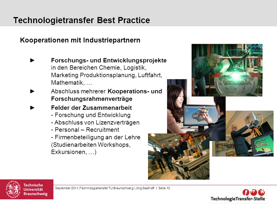 Technologietransfer Best Practice