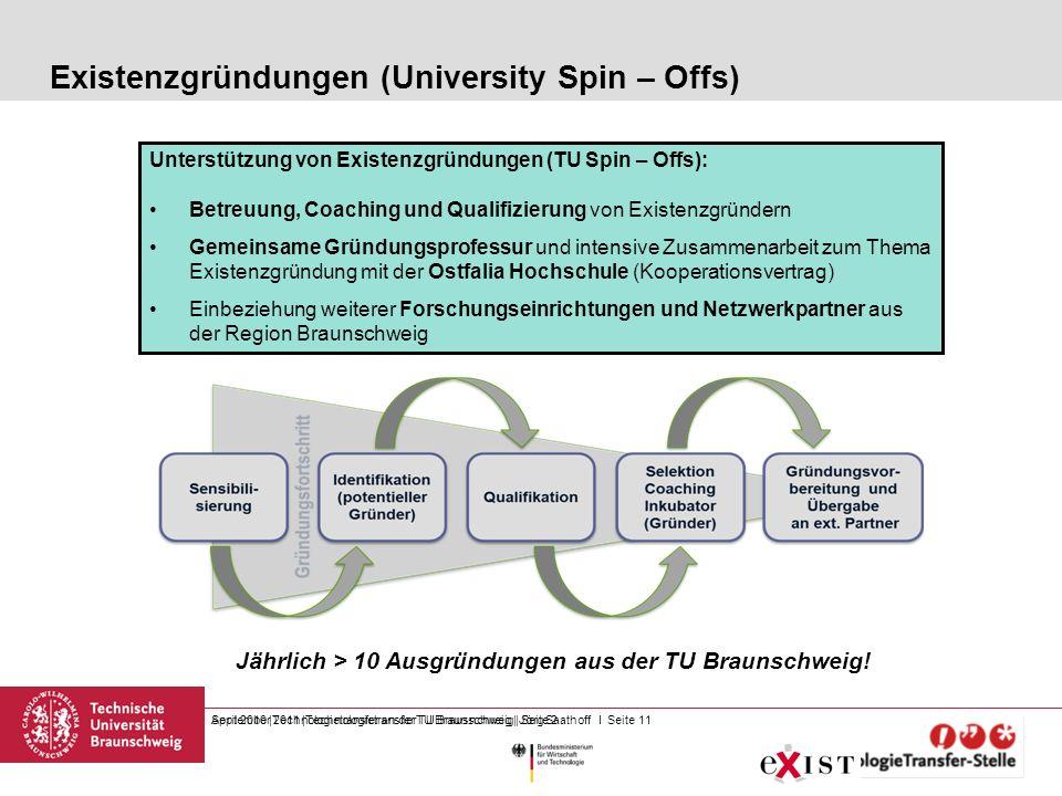 Existenzgründungen (University Spin – Offs)