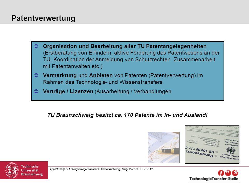 TU Braunschweig besitzt ca. 170 Patente im In- und Ausland!
