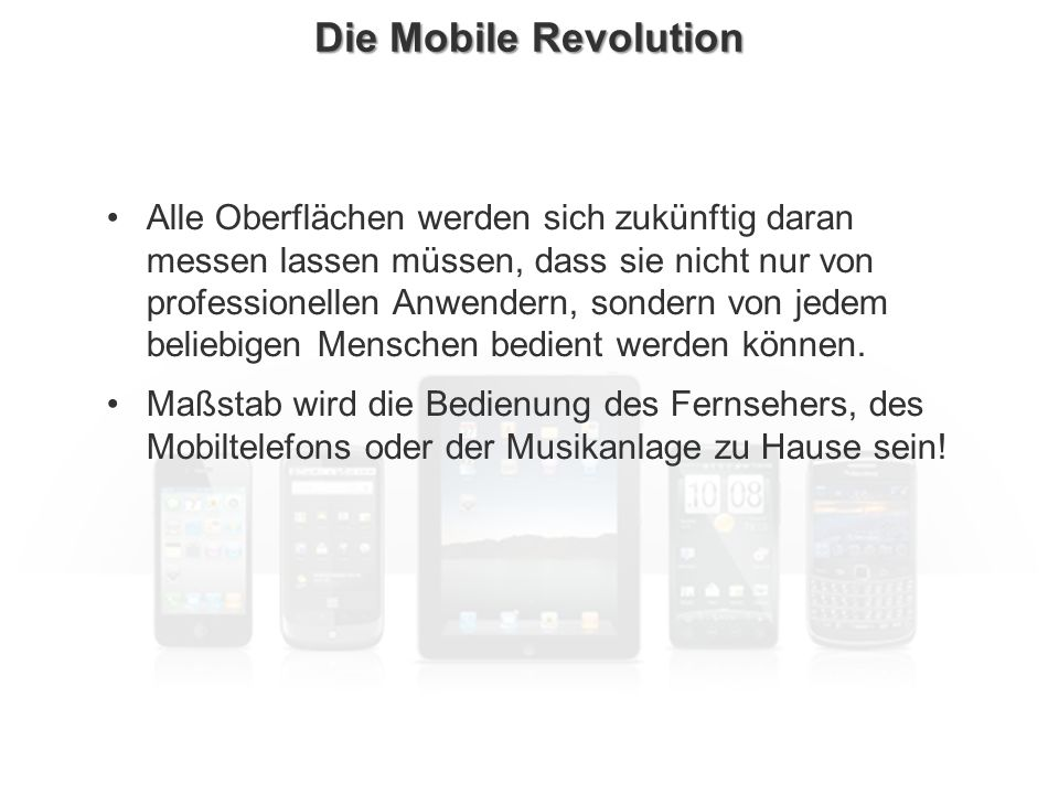 Die Mobile Revolution
