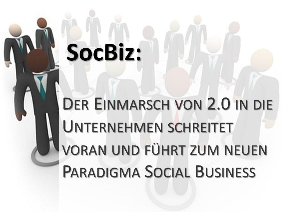 SocBiz: Der Einmarsch von 2.0 in die Unternehmen schreitet voran und führt zum neuen Paradigma Social Business.