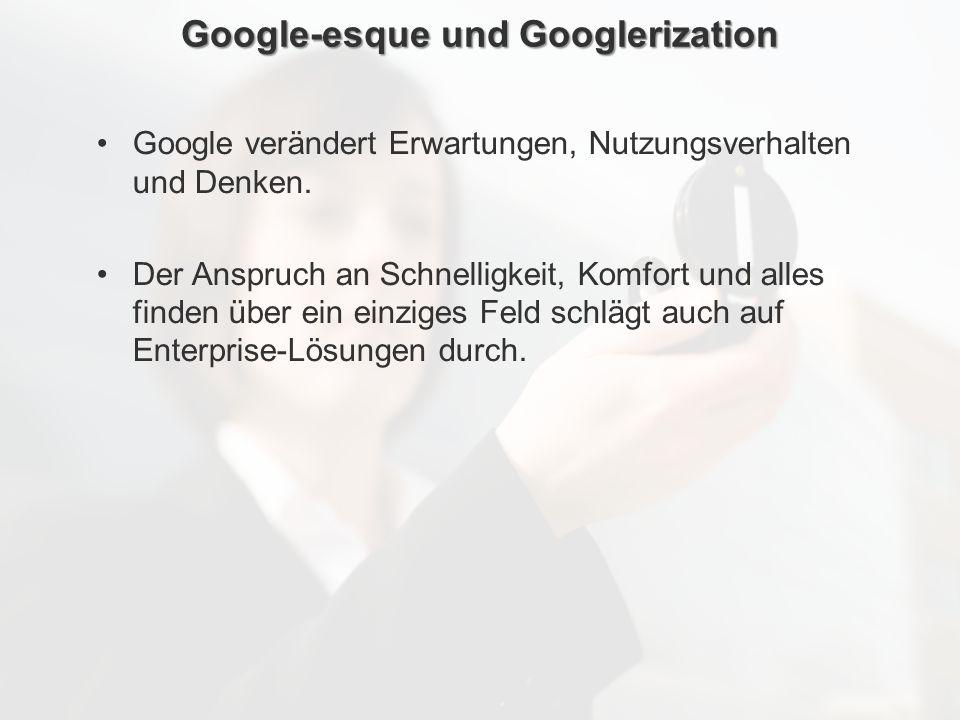 Google-esque und Googlerization