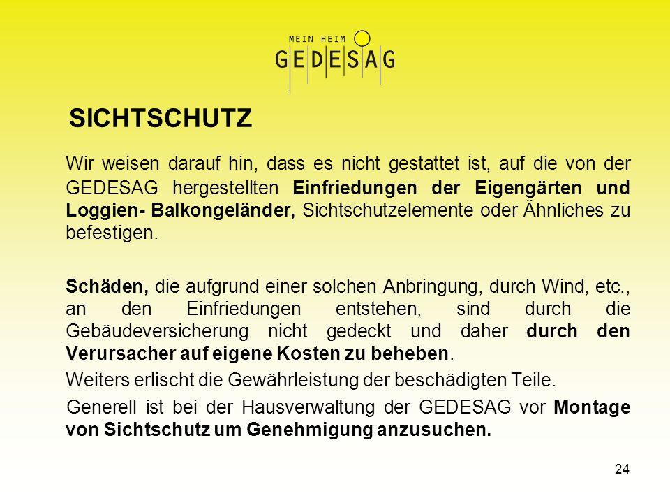 SICHTSCHUTZ