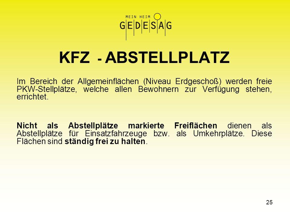 KFZ - ABSTELLPLATZ