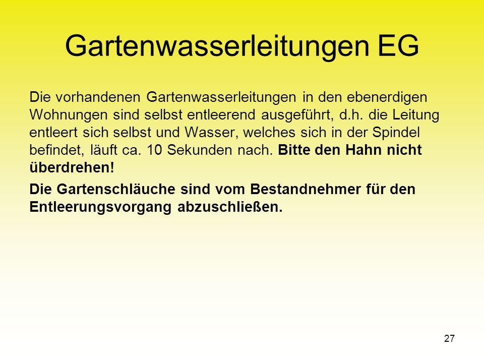 Gartenwasserleitungen EG