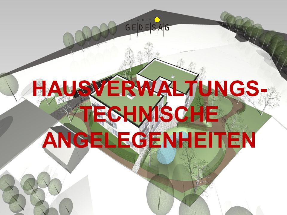 HAUSVERWALTUNGS-TECHNISCHE ANGELEGENHEITEN