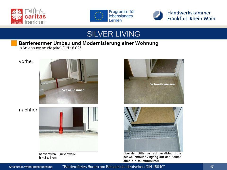 Barrierearmer Umbau und Modernisierung einer Wohnung in Anlehnung an die (alte) DIN 18 025