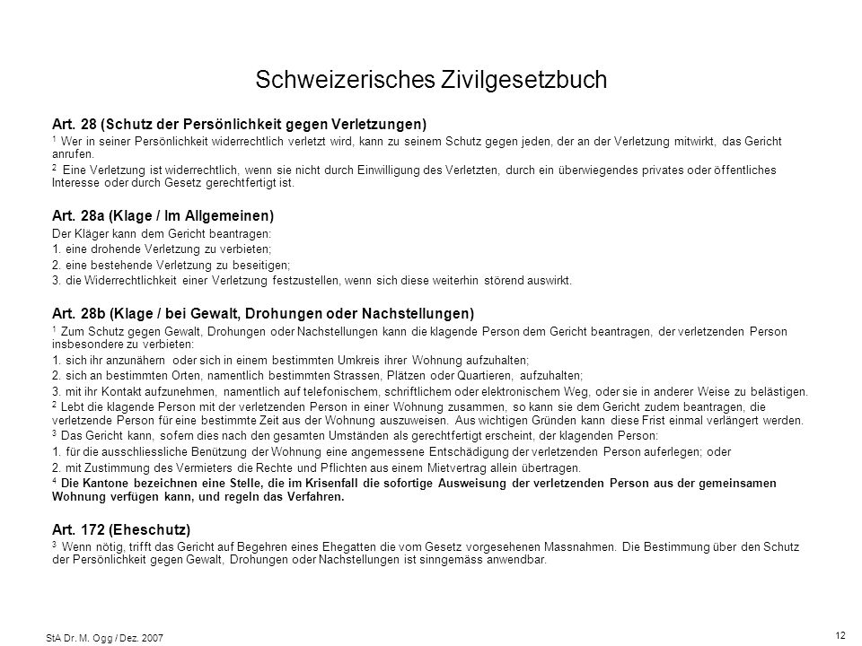 Schweizerisches Zivilgesetzbuch
