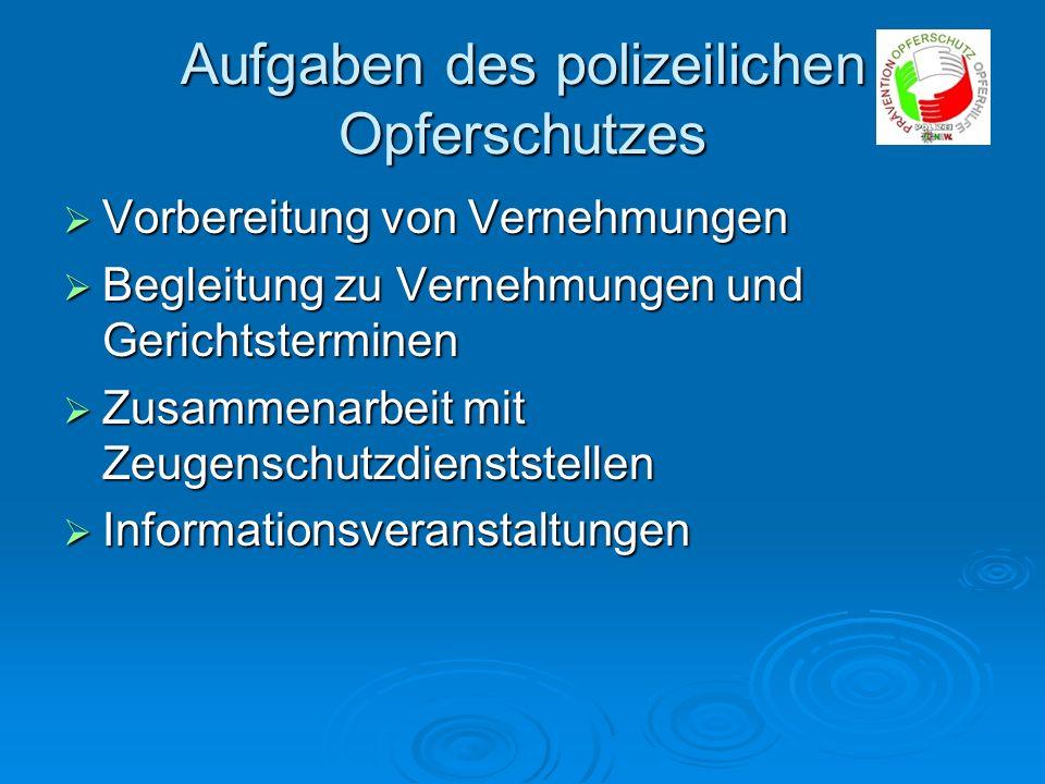 Aufgaben des polizeilichen Opferschutzes
