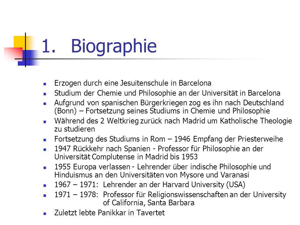 1. Biographie Erzogen durch eine Jesuitenschule in Barcelona