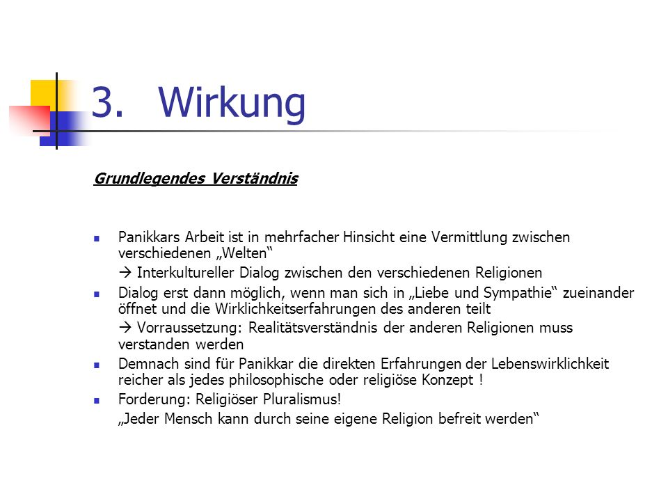 3. Wirkung Grundlegendes Verständnis