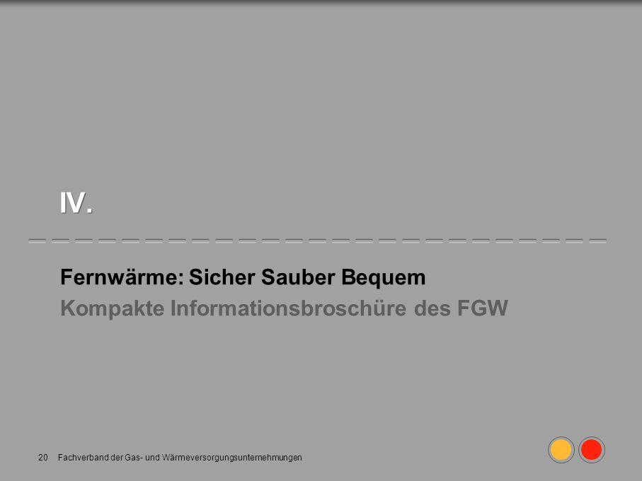Fernwärme: Sicher Sauber Bequem Kompakte Informationsbroschüre des FGW