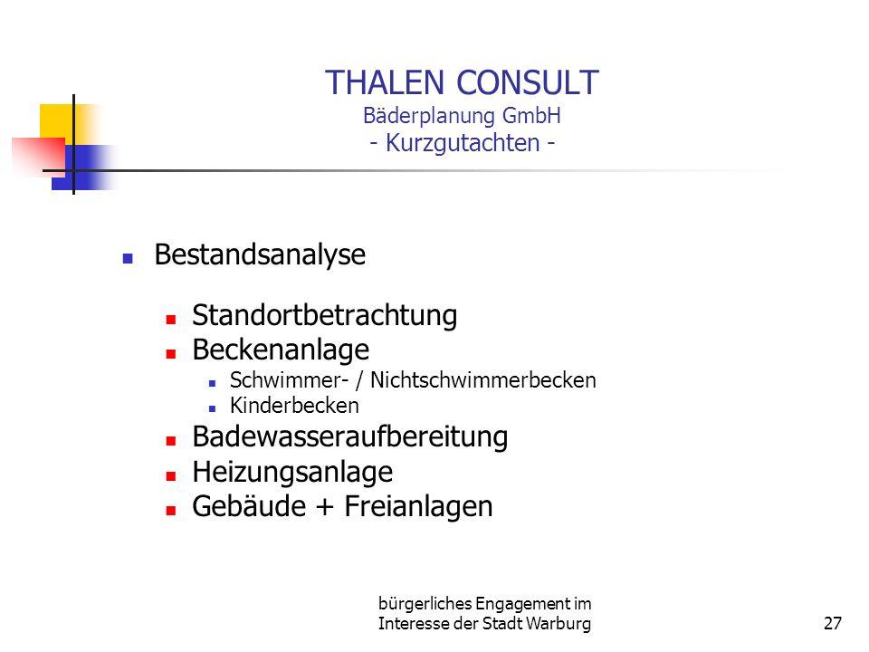 THALEN CONSULT Bäderplanung GmbH - Kurzgutachten -
