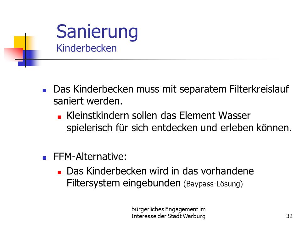 Sanierung Kinderbecken