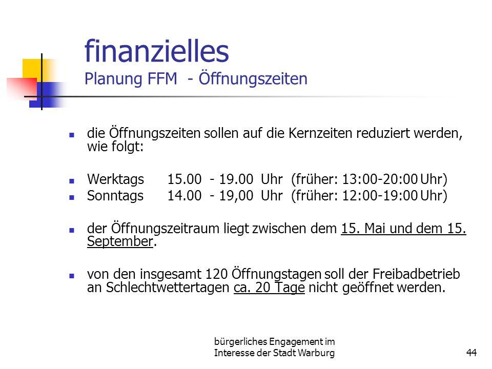 finanzielles Planung FFM - Öffnungszeiten