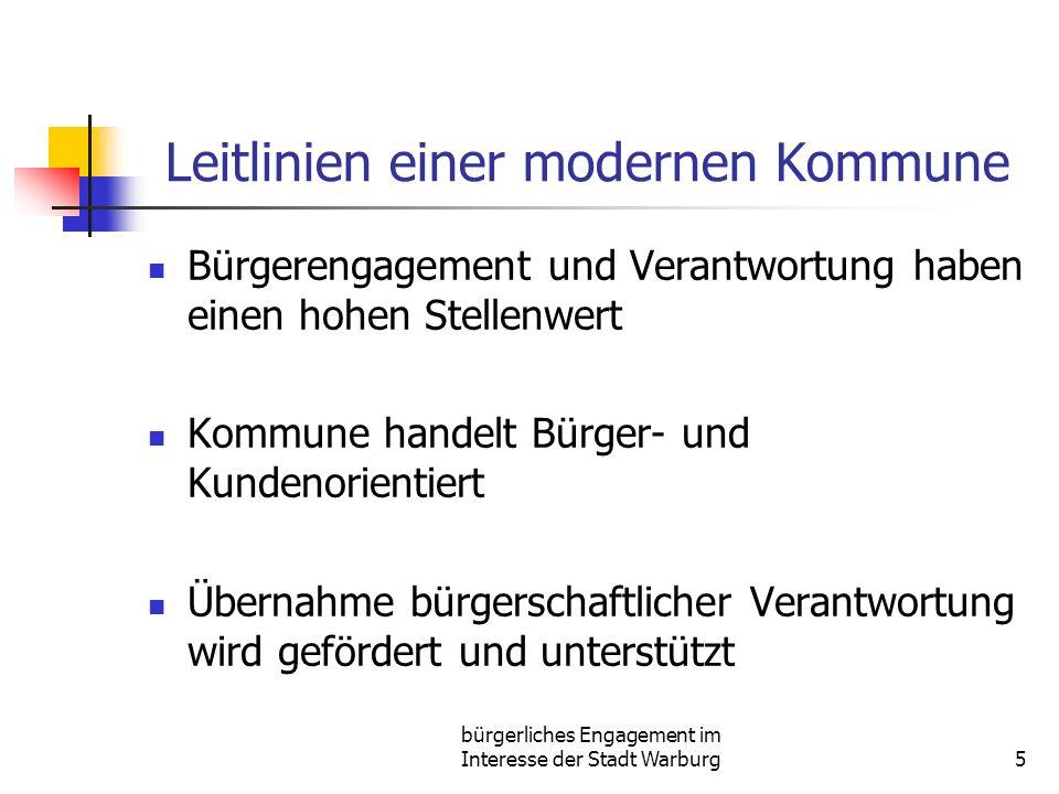 Leitlinien einer modernen Kommune