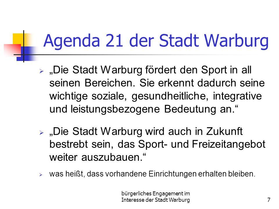 Agenda 21 der Stadt Warburg