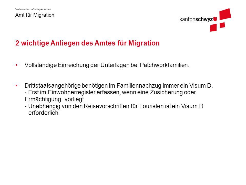 2 wichtige Anliegen des Amtes für Migration