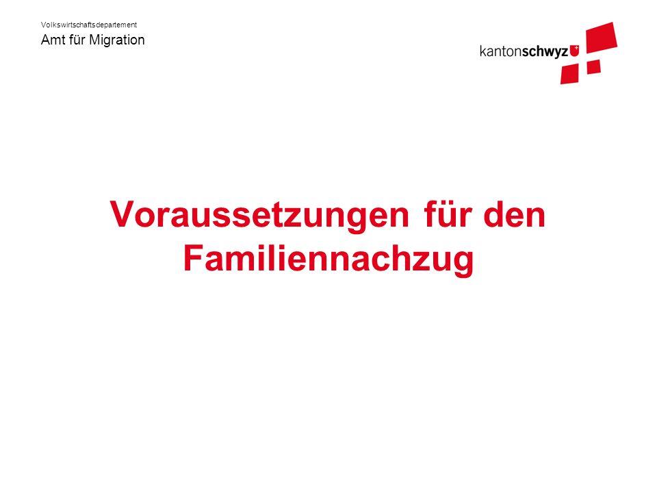 Voraussetzungen für den Familiennachzug