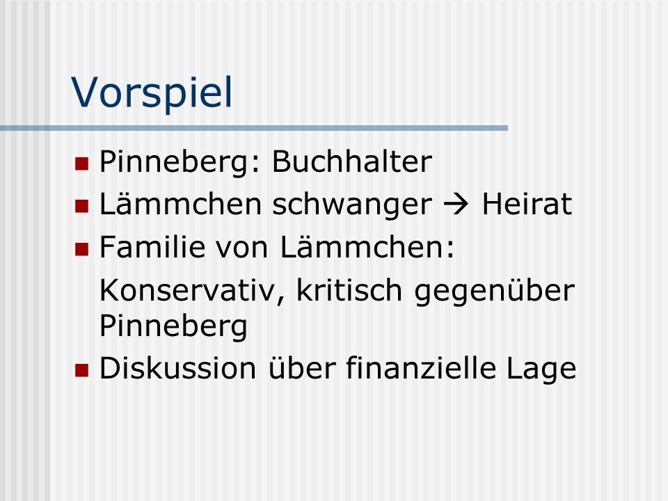 Vorspiel Pinneberg: Buchhalter Lämmchen schwanger  Heirat