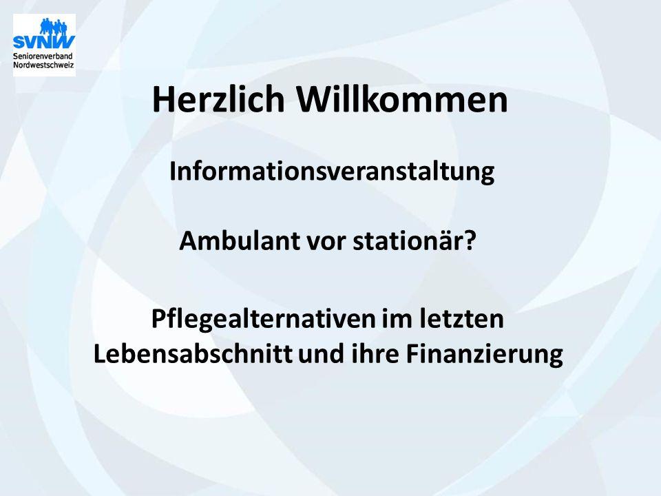 Herzlich Willkommen Informationsveranstaltung Ambulant vor stationär