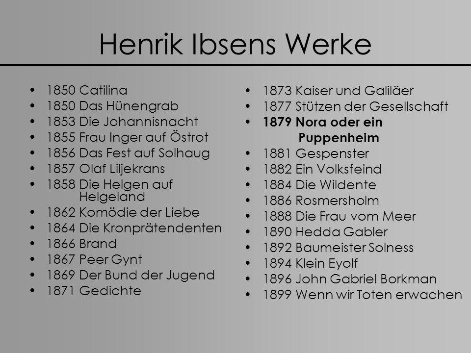 Henrik Ibsens Werke 1873 Kaiser und Galiläer 1850 Catilina