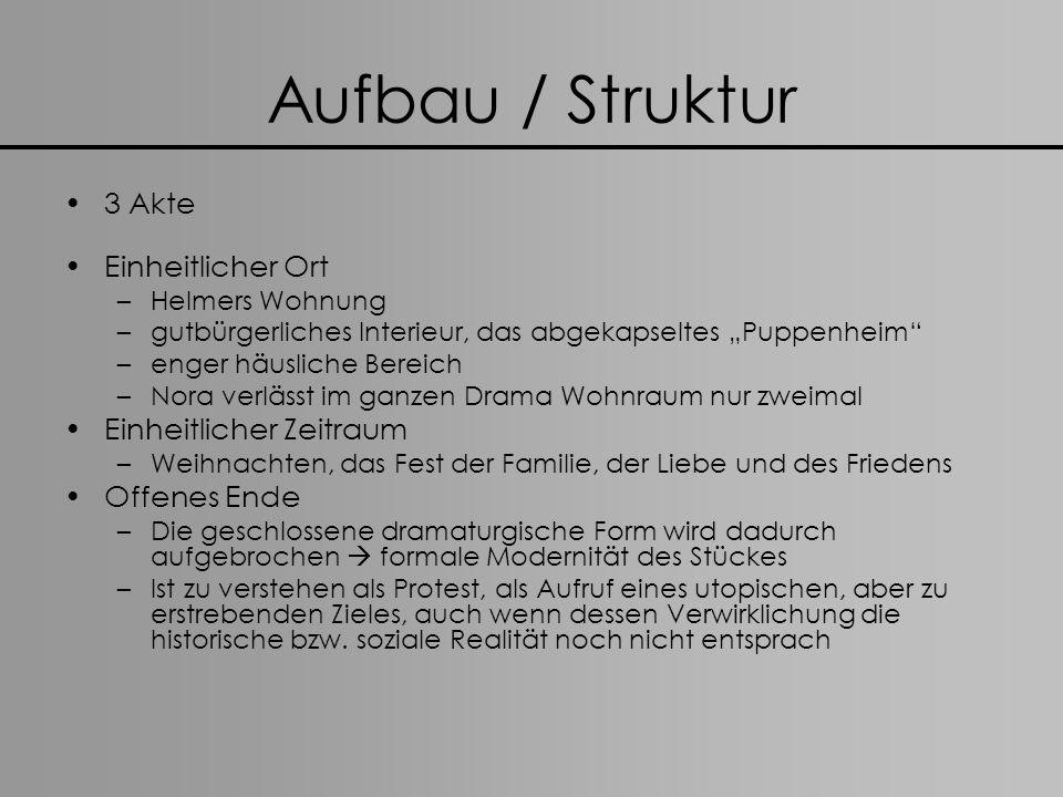 Aufbau / Struktur 3 Akte Einheitlicher Ort Einheitlicher Zeitraum