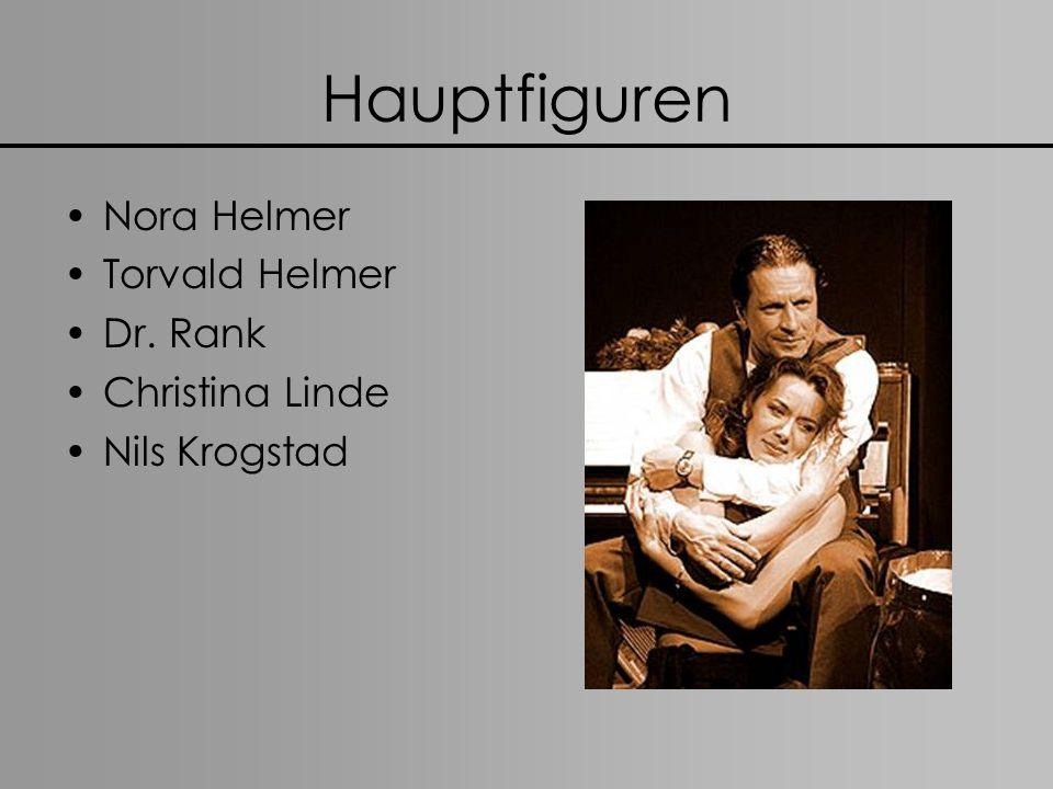 Hauptfiguren Nora Helmer Torvald Helmer Dr. Rank Christina Linde