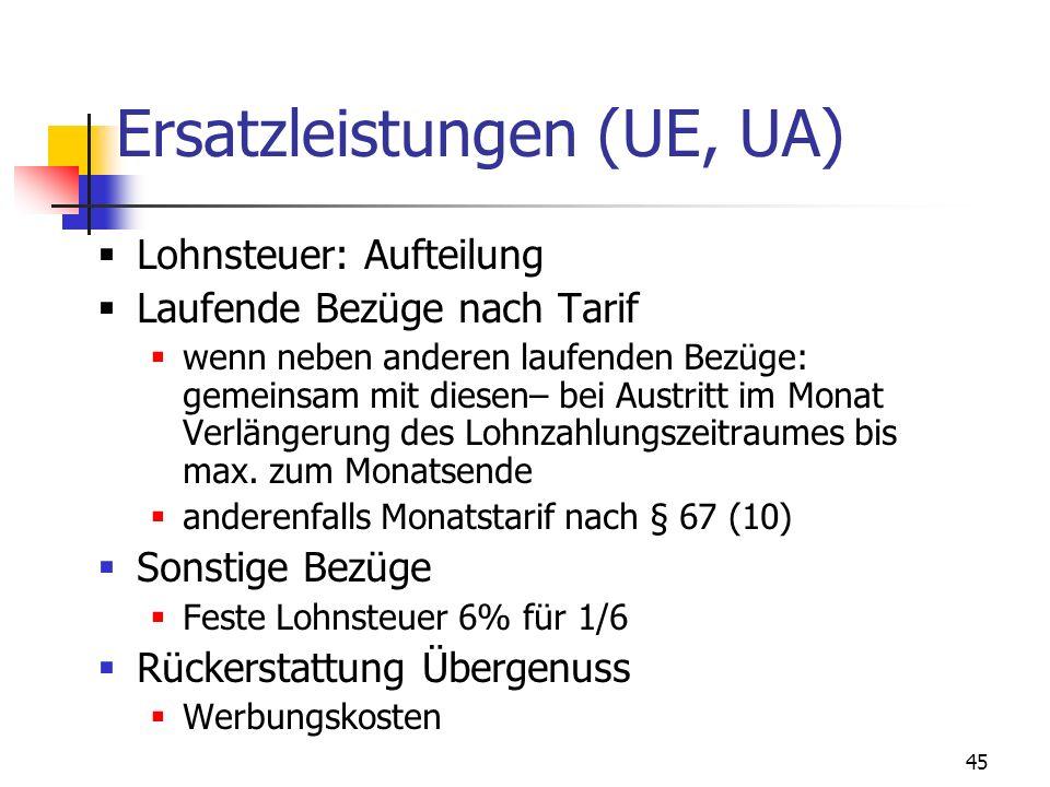 Ersatzleistungen (UE, UA)