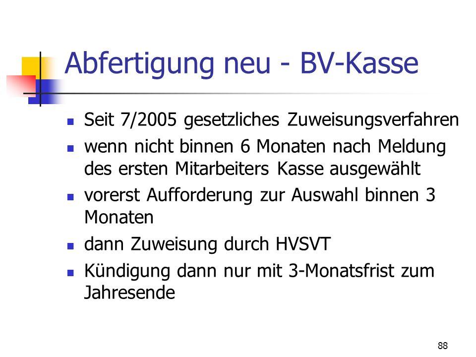 Abfertigung neu - BV-Kasse