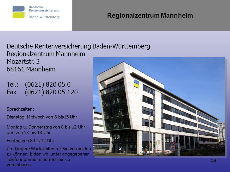 Regionalzentrum Mannheim