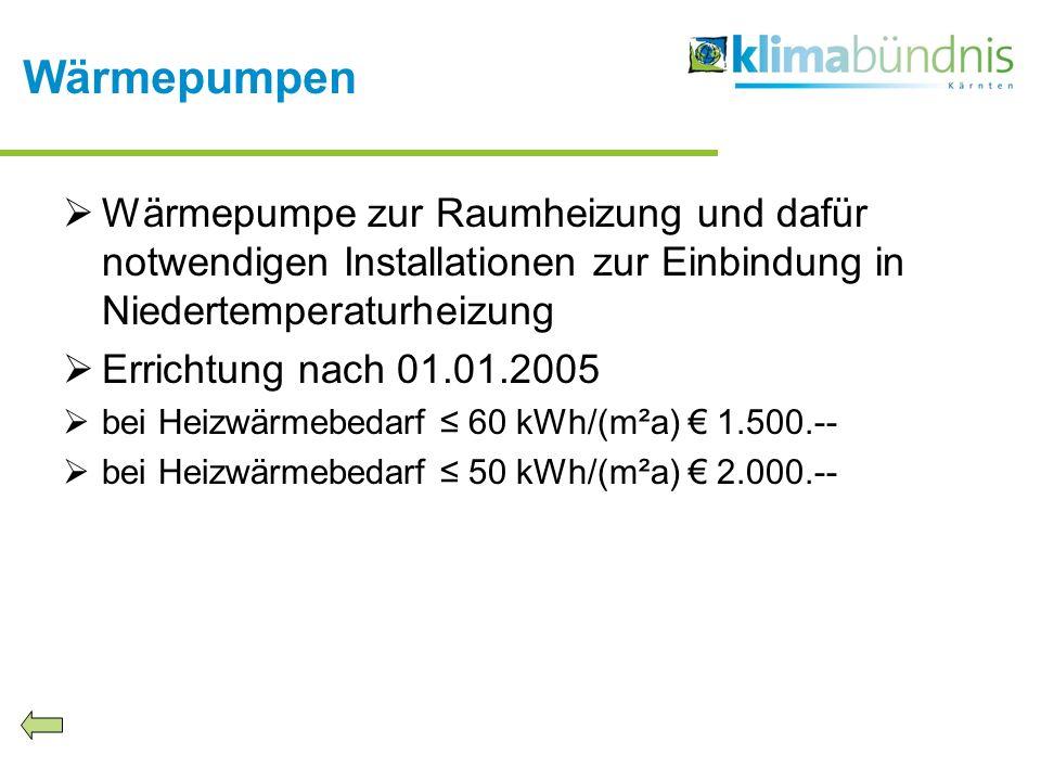 Wärmepumpen Wärmepumpe zur Raumheizung und dafür notwendigen Installationen zur Einbindung in Niedertemperaturheizung.
