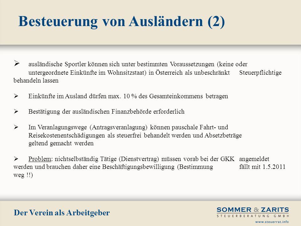 Besteuerung von Ausländern (2)