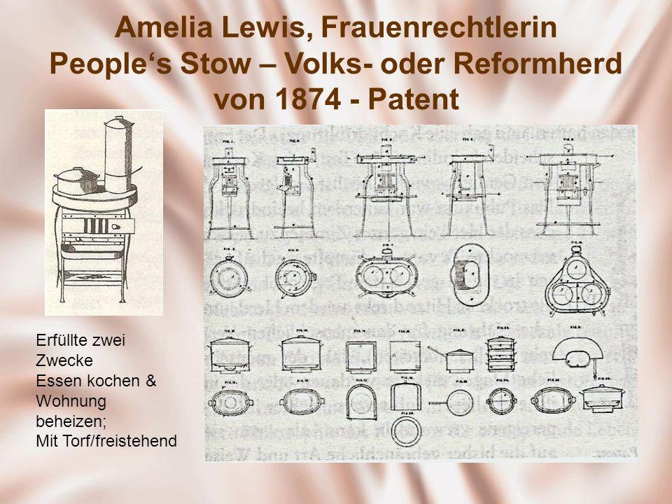Amelia Lewis, Frauenrechtlerin People's Stow – Volks- oder Reformherd von 1874 - Patent