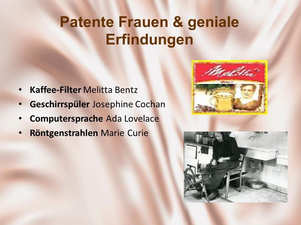 Patente Frauen & geniale Erfindungen