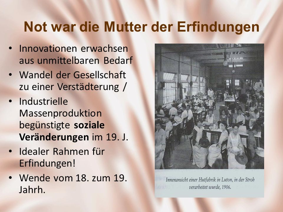Not war die Mutter der Erfindungen