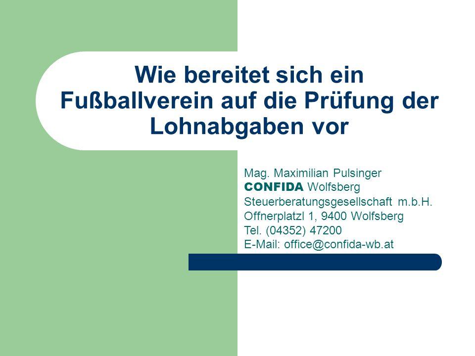 Wie bereitet sich ein Fußballverein auf die Prüfung der Lohnabgaben vor