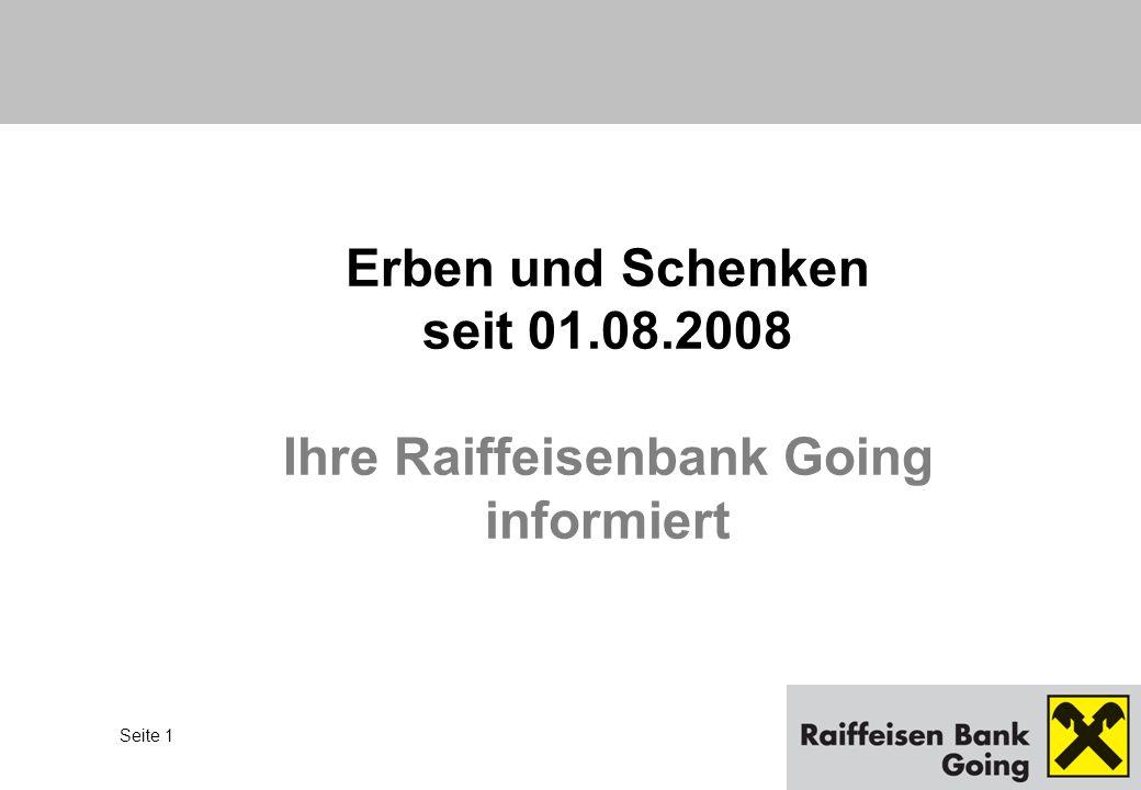 Erben und Schenken seit 01.08.2008
