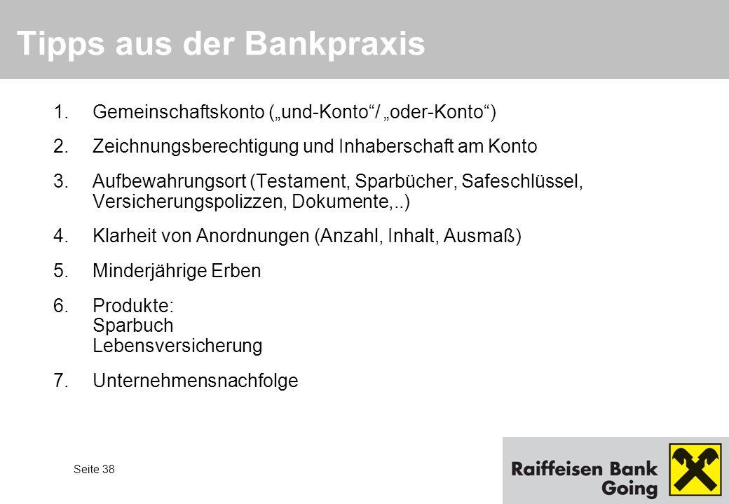Tipps aus der Bankpraxis