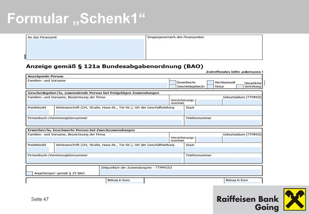 """Formular """"Schenk1"""