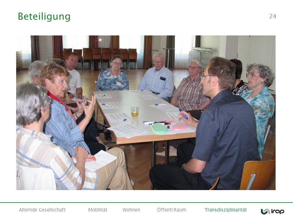 Beteiligung Alternde Gesellschaft Mobilität Wohnen Öffentl Raum Transdisziplinarität