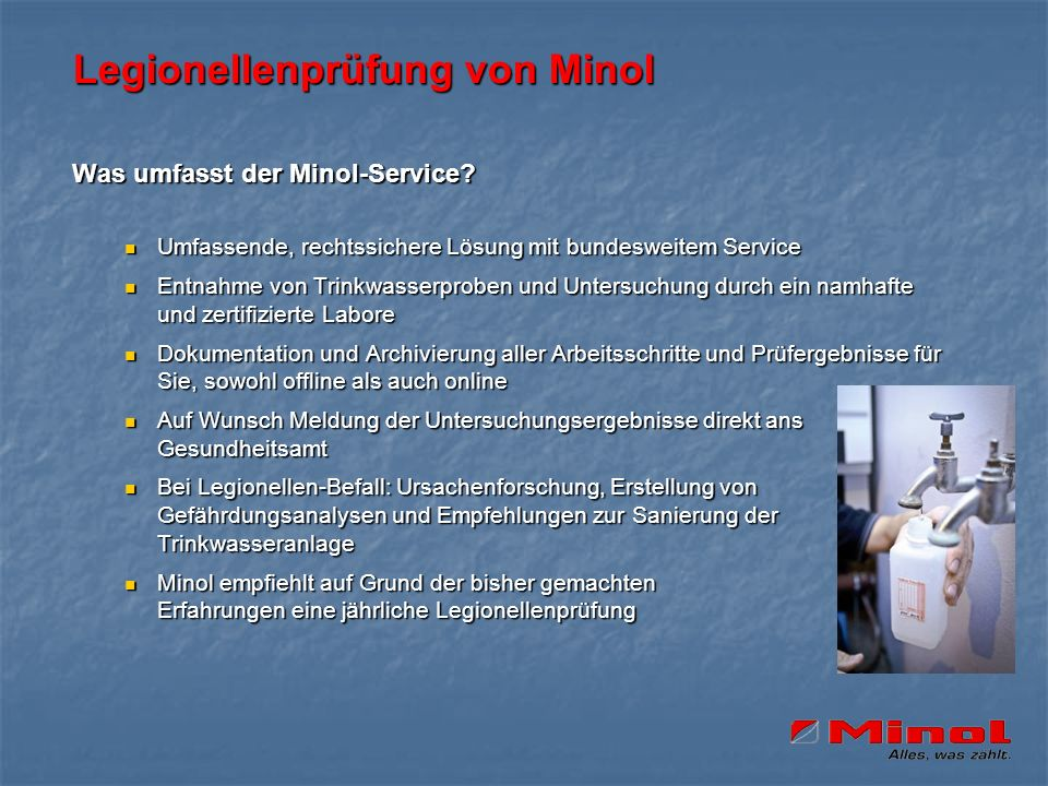 Legionellenprüfung von Minol