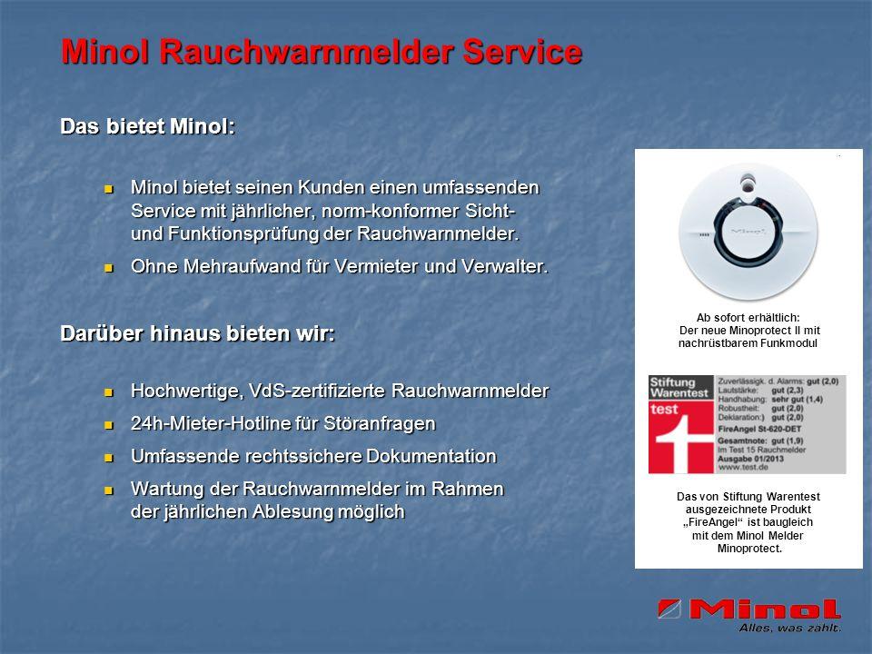 Minol Rauchwarnmelder Service