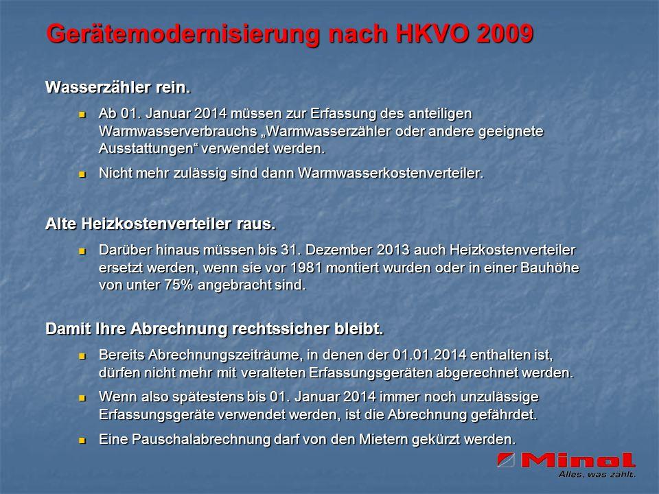 Gerätemodernisierung nach HKVO 2009