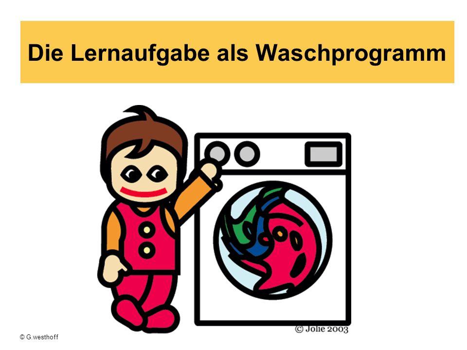 Die Lernaufgabe als Waschprogramm