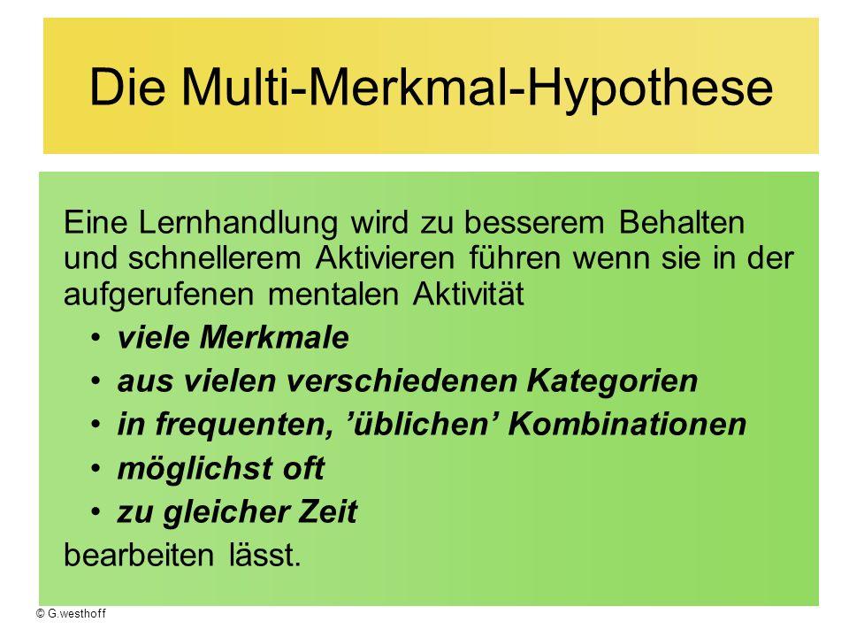 Die Multi-Merkmal-Hypothese