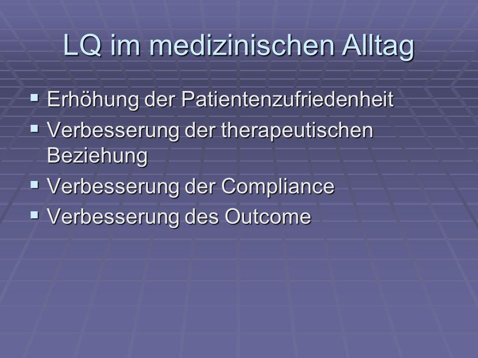 LQ im medizinischen Alltag