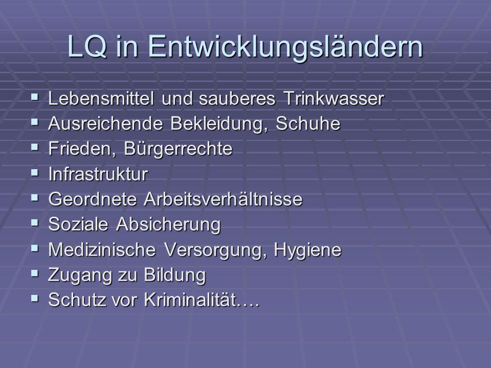 LQ in Entwicklungsländern
